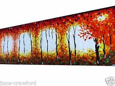 huge  Oil Painting Modern Art original styled bushfire abstract Australia COA