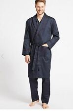 M&S COLLECTION  Mens Pure Cotton Printed Dressing Gown with Belt Size XXL
