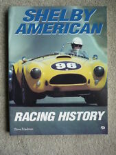 Brilliant SHELBY AMERICAN RACING HISTORY RACING CAR BOOK jm
