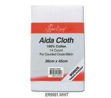 "Sew Easy Aida Cloth 14 Count 14"" X 17½"" 100 Cotton White"