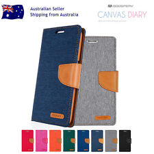 Sony Xperia X/XA/Performance Mercury Canvas Leather Wallet Flip Card Case Cover