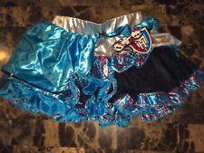 GIRLS MONSTER HIGH BLACK & BLUE PETTI SKIRT TUTU COSTUME DRESS. One Size