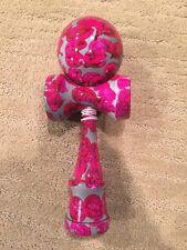 "Jumbo Pink Grey  Full Marble XL 10"" Super Kendama,Super Sticky,Japanese Toy.USA"
