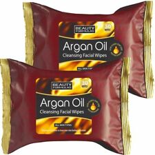 60 x Argan Oil Cleansing Facial Face Make Up Remover Wipes 2 x 30 Wipes