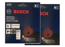 Bosch SR5R000 12-Piece Assortment 5 In. 8 Hole Hook-And-Loop Sanding Discs