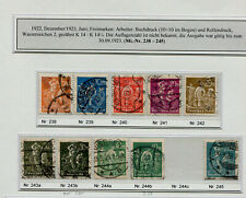 Inflation: Minr 238 - 245 Postmarked, with Some Unterfarben, E.g. No. 243 B