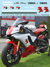 1/12 YAMAHA YZF-R1 M 20TH  ANNIVERSARY DECALS CONVERSION SET FOR TAMIYA TBD336