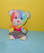 "BABW 7"" Build a Bear SMALLFRYS Enchanted Garden Rainbow Plush Bear w/ Dress"