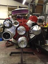 Big Block Chevy Billet Cog Belt Pulley System with AC.