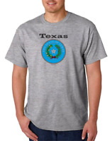 Gildan Short Sleeve T-shirt USA State Seal Texas Big