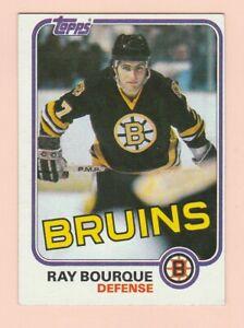 1981-82 TOPPS #5 RAY BOURQUE, BRUINS, NRMT/MT