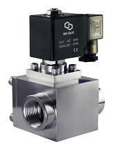 High Pressure Stainless Energy Save Electric Solenoid Valve Nc 12 Inch 24v Dc