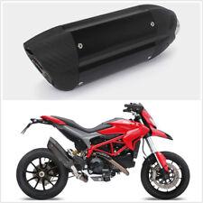 Universal Carbon Fiber Color Exhaust Muffler Silencer Motorbike Exhaust Pipe
