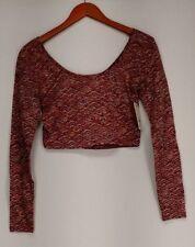 Maglie e camicie da donna a manica lunga rossa in misto cotone