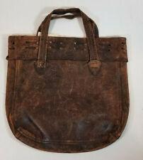 Antique Victorian Brown Leather Handbag Purse