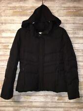 Down Puffer Jacket Calvin Klein Womens Black Winter Coat Medium