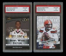 2018 BAKER MAYFIELD/ODELL BECKHAM JR PRIZED ROOKIE CARD 1ST GRADED 10 LOT BROWNS