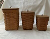 Custom Lids ONLY for the Longaberger Small & Medium Spoon & Mini Waste Baskets