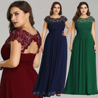 US Ever-Pretty Plus Size Long Bridesmaid Prom Gown Formal Evening Party Dresses