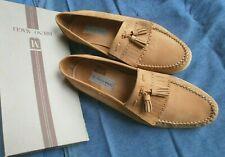 Bruno Magli Italian Camel Suede Vintage Kiltie Loafers - 13M