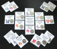 JUST FOR YOU LUCKY SIXPENCE COIN  MUM GRAN NIECE DAUGHTER ETC FEMALE KEEPSAKES