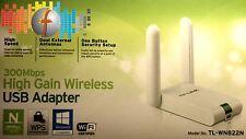 Adaptador WLAN USB 300mb TP-Link tl-wn822n Wi-Fi 802.11b/n/g WEP wpa/wpa2 WPA-PSK