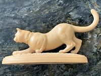 Plastic Cat Figurine On Stand Lid? Wall Hanging Miniatures Rescue Ear Clipped