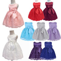 Flower Girls Princess Dress Kids Baby Party Wedding Junior Bridesmaid Tutu Skirt