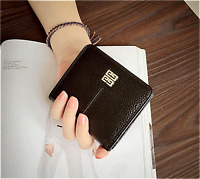 Women's Genuine Leather Short Wallet Clutch Purse Lady Handbag Money Bag