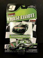 2020 WAVE 04 NASCAR Authentics 1:64 CHASE ELLIOTT #9 FREE CARD MTN DEW ZERO