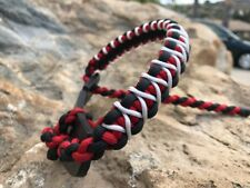 Weber Custom Bow Sling Red Black With White Micro Braid X Weave Pse Bowtech Hoyt