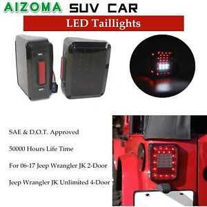 Auto 12V LED Tail Light For 2007-2016 Jeep Wrangler JK 2-Door /Unlimited 4-Door