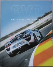 EVO magazine February 2014 featuring Porsche, TWR Jaguar, Audi, Corvette