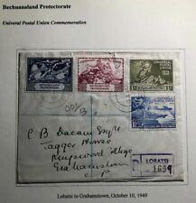 1949 Lobatsi Bechuanaland First Day Cover FDC Universal postal Union UPU