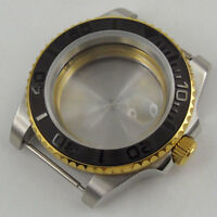 40mm parnis Sapphire ceramic bezel golden Watch Case fit 2836 MIYOTA Movement