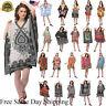 Women Hippy Boho Kaftan Tunic Dress Dashiki Caftan PlusSize Baggy Top Mini Dress