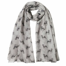 Staffordshire Bull Terrier Dog Print Womens Scarf Shawl Sarong Pet Puppy Gift