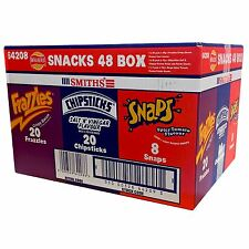 Walkers Smiths 48 Snack Box 20 x chipsticks frazzles 20 x 8 X PATATINE FRITTE CHIPS gli Snap
