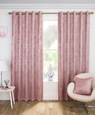 HALO PLAIN METALLIC SHIMMER THERMAL SPARKLE BLOCK OUT EYELET RING TOP CURTAINS