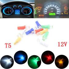 10X T5 W1.2W 1 LED Car Interior Light Dashboard Warning Indicator Lamp Bulbs 12v