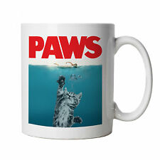 Paws Mug - Funny Cat Jaws Parody - Birthday, Christmas Gift Cup