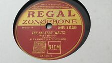 ALEXANDERS ACCORDEONS THE SKATERS WALTZ & OVER THE WAVES REGAL ZONO MR1029
