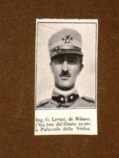 WW1 1a Guerra mondiale 1914-1918 Caduto per la patria G. Levati di Milano