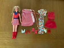 1975-6 Mattel Barbie sister Growing Up Skipper Doll with clothing lot