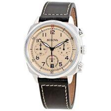 Relojes de pulsera Bulova cuero cronógrafo