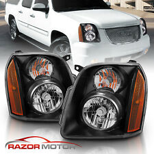 2007 2008 2009 2010 2011 2012 2013 2014 Gmc Yukon Xl Denali Black Headlights (Fits: Gmc)