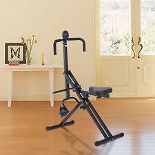 Homcom Total Crunch Gym Abdo Fitnessgerät Bauchtraining LCD Display Bauch Rücken