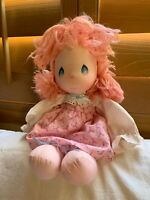 Pink Dress & Hair, Vintage Precious Moments Doll - 1985 Applause  Doll, 15""