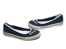GUCCI women's blue fabric slip on ballet flats | Size EUR 38/US 8 (24.6cm/9.4in)