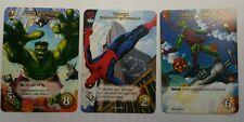 MARVEL Legendary Promo set of 3 Spider-Man Hulk smash Green Goblin Rare